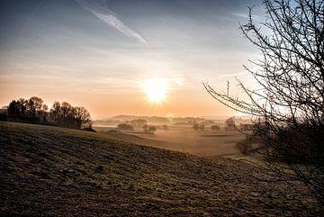 Sonnenaufgang, die Coige in Leefdaal. von Manuel Declerck