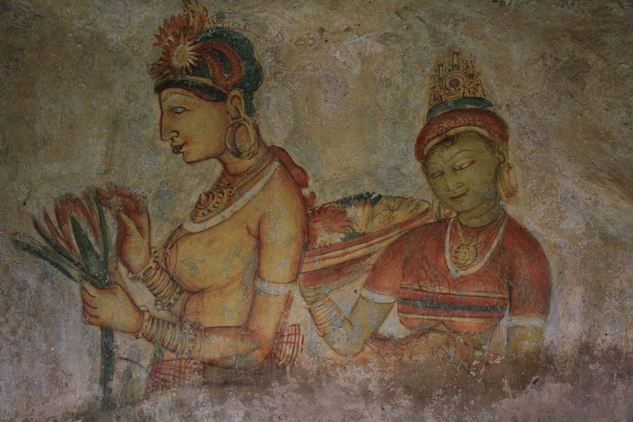 Muurschildering in Sigiriya