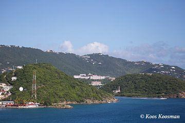 Een Water Eiland Op De Caribbean van Koos Koosman