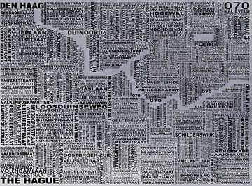 Kaart van Den Haag van Stef Van Campen