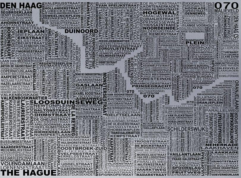 Karte von Den Haag von Stef Van Campen