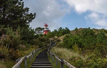 Vuurtoren op de top van het Vuurboetsduin op Vlieland van Ingrid Aanen