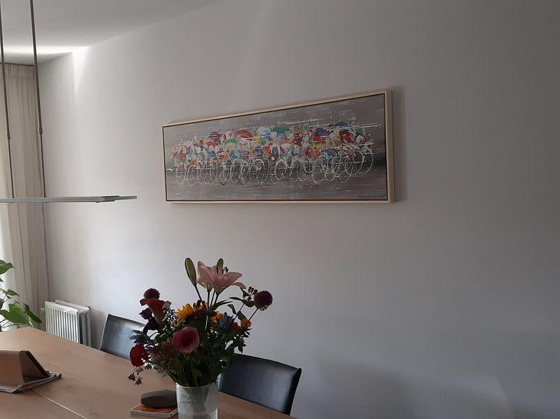 Kundenfoto: Radfahrer von Atelier Paint-Ing, auf leinwand