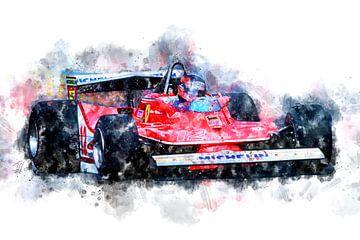 Gilles Villeneuve 12 von Theodor Decker