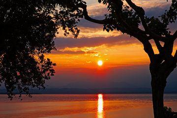 Sonnenuntergang Gardasee von Evert Jan Looise