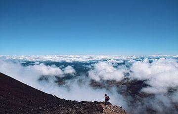 Bergsteiger auf dem Mt. Ngauruhoe von Julian König