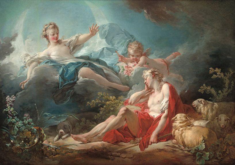 Antoine Watteau. Diana and Endymion van 1000 Schilderijen
