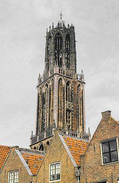 Domtoren Utrecht analoog van Sander Jacobs