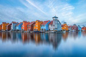 Reflections of Reitdiephaven Groningen van