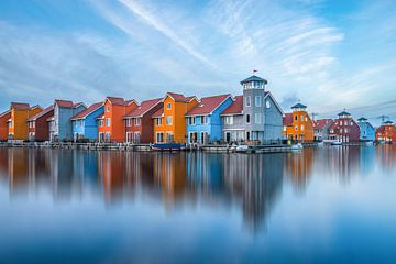 Reflections of Reitdiephaven Groningen van Sabine Bartels