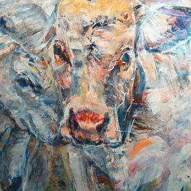 Kuh mit Kalb von Liesbeth Serlie
