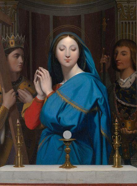 Jean Auguste Dominique Ingres -  De maagd Maria met hostie van 1000 Schilderijen