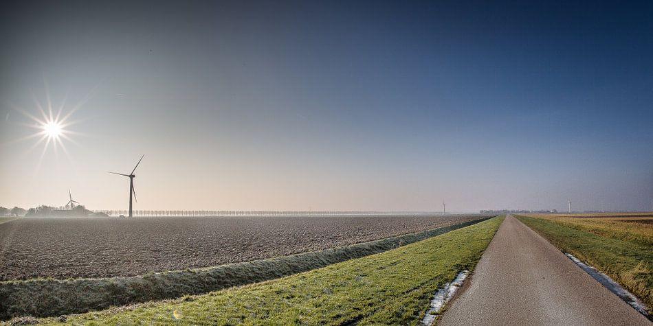 Flevolandschap #02 van Michiel Leegerstee
