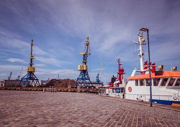 Hafen von Rostock an der Ostsee von Animaflora PicsStock