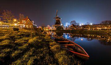 Zwolle de nuit sur Stefan Vlieger