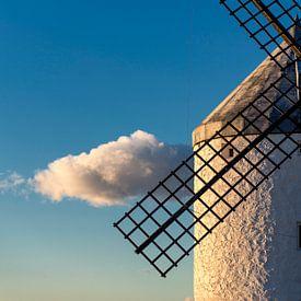 Historische windmolen van Don Quichot, in La Mancha (Spanje). van Carlos Charlez