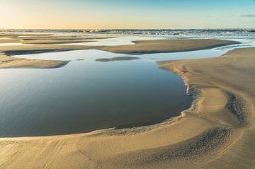 Ebbe und Flut Strukturen am Sandmotor von Bep van Pelt- Verkuil