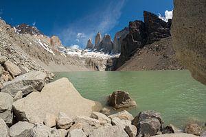 Torres del Paine, de Torens van blauw