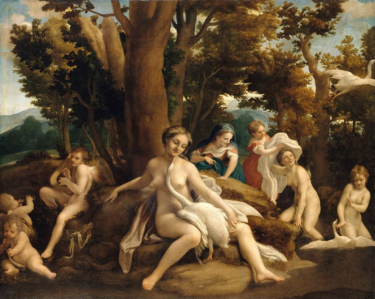 Leda and the Swan, Correggio von Meesterlijcke Meesters