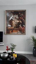 Klantfoto: De menagerie, Melchior d'Hondecoeter, op canvas
