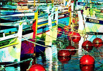 bateaux colorés sur Anouschka Hendriks