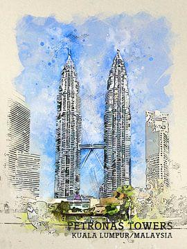 Petronas Towers van Printed Artings
