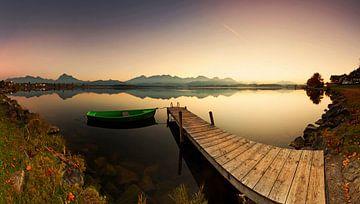 Sonnenuntergang am See von Frank Herrmann