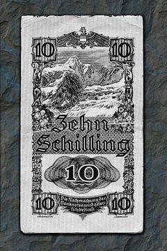 Austrian ten shillings van Leopold Brix