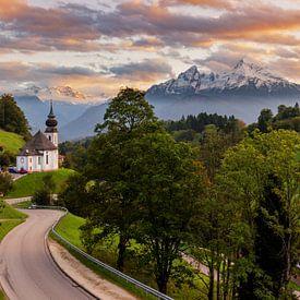 Wallfahrtskirche Maria Gern zum Sonnenuntergang von Tilo Grellmann | Photography