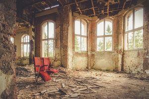 Verlaten bioscoop stoelen