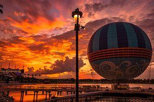 Aerophile Balloon  at Disney Springs during sunset