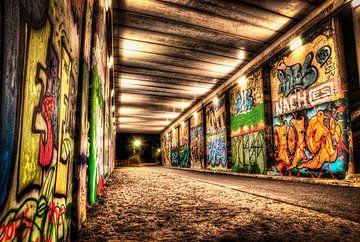Graffiti brug van Kei(stad) Donker