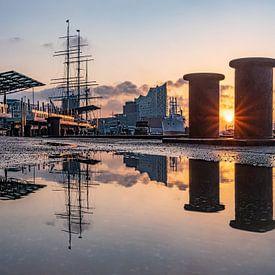 2018-02-01 landingsbruggen zonsopgang van Joachim Fischer