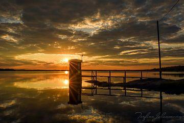 Schwedischer Sonnenuntergang von Torfinn Johannessen