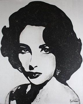 Elizabeth Taylor - Diamanten van Kathleen Artist Fine Art