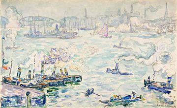 Hafen von Rotterdam, Paul Signac, 1906 von Atelier Liesjes