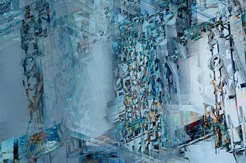Hotel Royal 1: Digitale Kunst Komposition eines Bildes einer abgenutzten Leuchtreklame von John Quendag