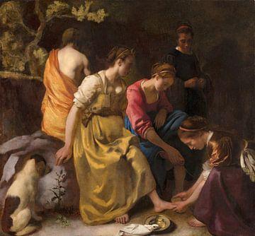 Diana und ihren Gefährtinnen, Johannes Vermeer von Meesterlijcke Meesters