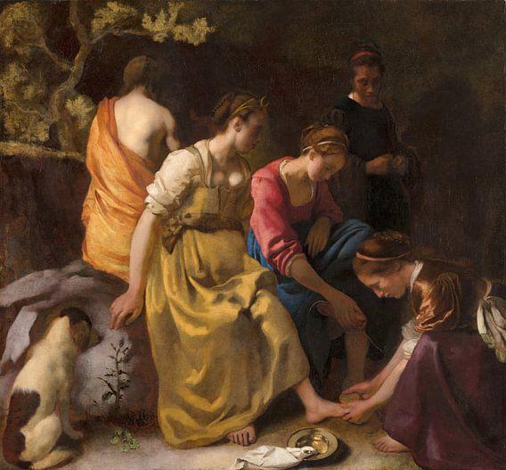 Diana en haar nimfen, Johannes Vermeer
