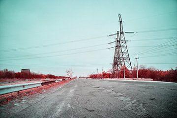 Weg naar oneindigheid Tsjernobyl infrarood van Lars Beekman