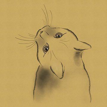 Federzeichnung Katze von Lida Bruinen