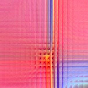 Roze mozaïek van Christine Bässler