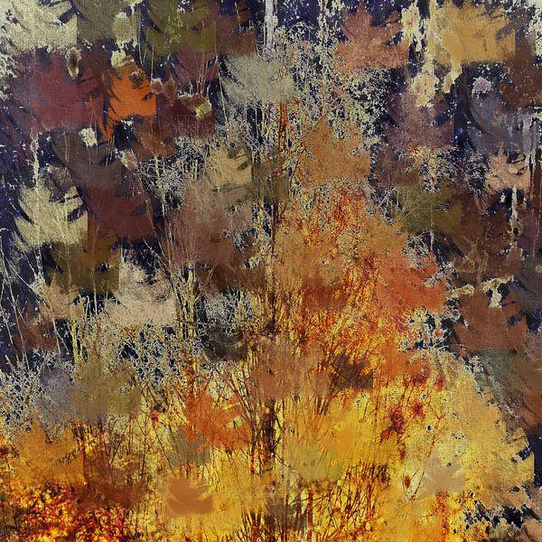 Abstracte herfst van Christine Nöhmeier