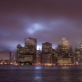 Night Skyline Manhattan sur Alex Hiemstra