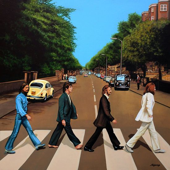 The Beatles schilderij van Paul Meijering