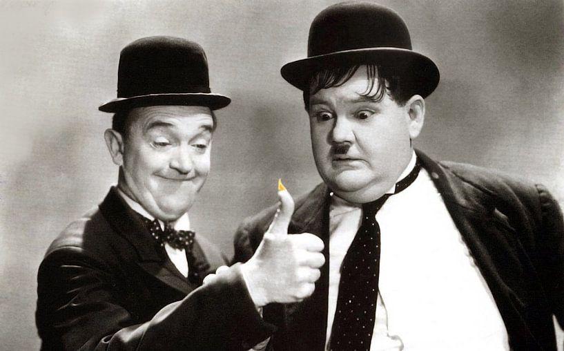 Stan Laurel en Oliver Hardy van Brian Morgan