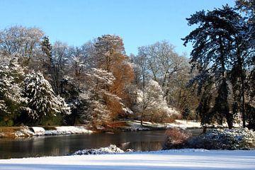 sneeuw in het park van lieve maréchal