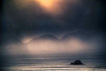 Sturm über dem Sound of Raasay von Hans den Boer