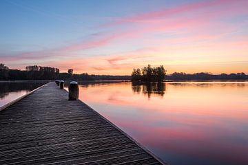 Kralingse plas met zonsopkomst III sur Prachtig Rotterdam