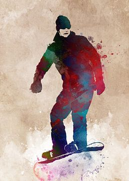 snowboardkunst #snowboard van JBJart Justyna Jaszke